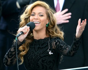 Beyonce performing National Anthem