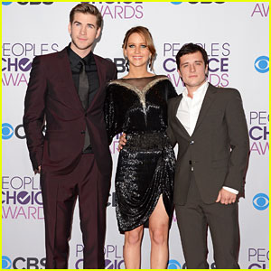 Gale, Katniss, and Peeta at the People's Choice Awards