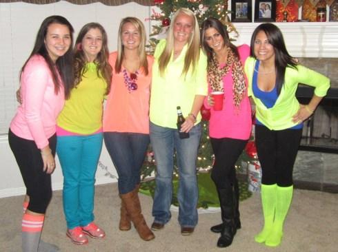Morgan's sister, me, Gina, Neva, Jessica, Morgan