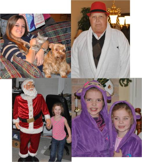 The girls opened their gifts, Sadie danced with the moving Santa, Uncle Steed tried on his robe and I was Dr. Dolittle.