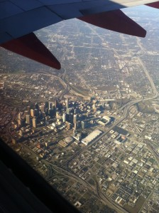 View of Downtown from our flight