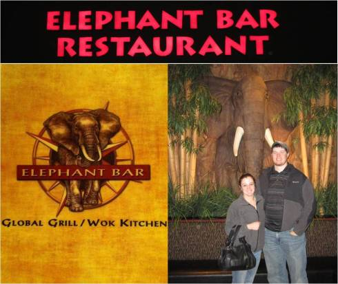 Yes, there is actually a restaurant called the Elephant Bar!! How awesome is that?!