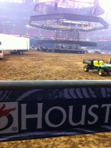 My view from standing on the back of the chutes