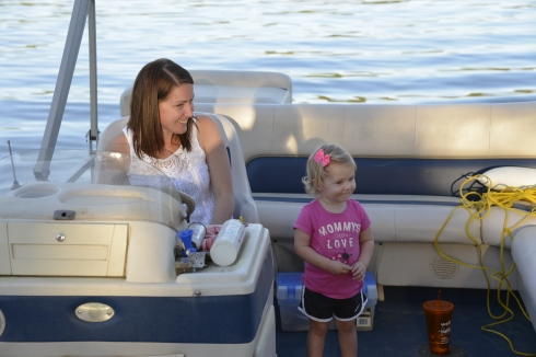 Lori and Chloe on the boat