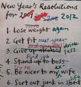 Funny New Year's Resolutions...