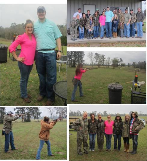 Skeet Shoot with our Bridal Party at Jessica's family's Ranch