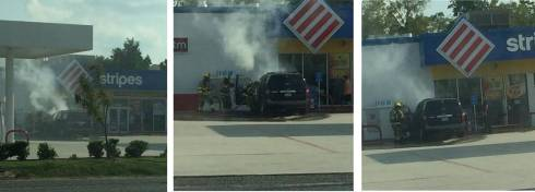 Gas Station Car Fire
