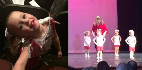 Chloe's dance recital - she was being repositioned by her teacher