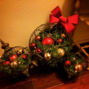 Big iron ornaments in our entry way