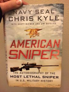 Began reading American Sniper.  If you haven't read it yet, you need to.  It's great.