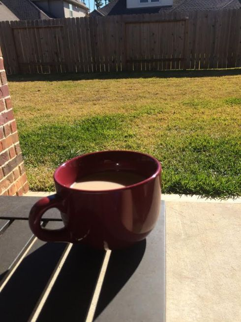 Beautiful day for coffee on the back porch