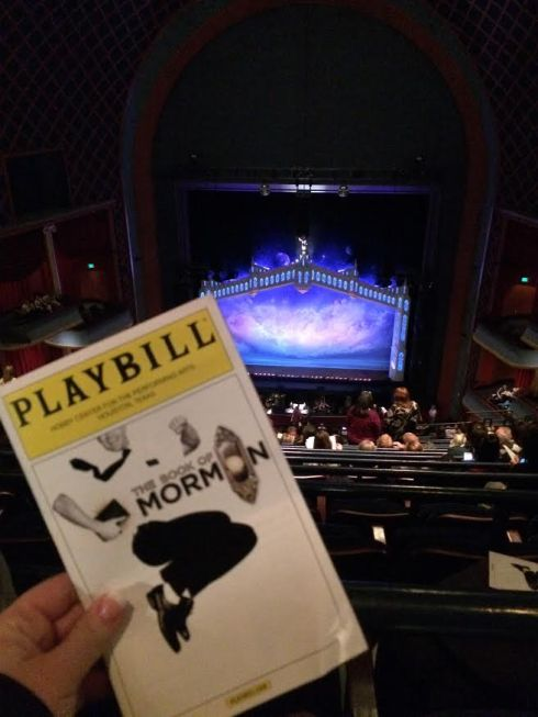 Joseph and I went to see the Book of Mormon