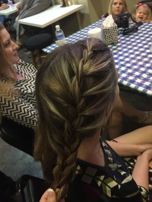 My first attempt at a French Braid...not too bad but no one will be looking like Elsa anytime soon if I am doing their hair...