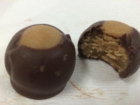 Chocolate covered peanut butter balls?  Why yes, I will have two!