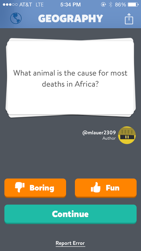 Do you know the answer?  And no, it isn't elephants.