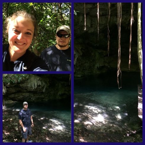 We did a 4x4 excursion and a tour into a Cenote (underground river)